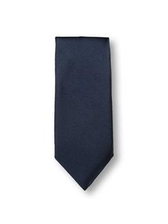 Seidenkrawatte Classic Uni Blau Detail 1