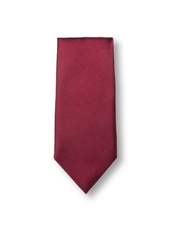 Seidenkrawatte Classic Uni Rot Detail 1