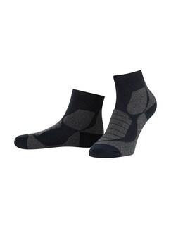 Klepper Wander-Socke 2er-Pack Marine/Plum Detail 1