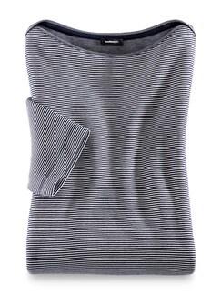 Doubleface-Sweatshirt Marine/Weiß Detail 2