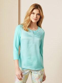 Shirt Seidenglanz Soft Aqua Detail 1