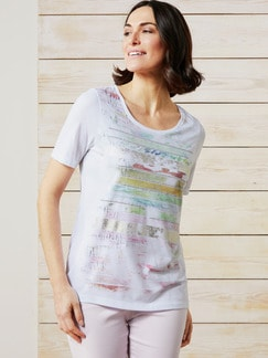 Shirt Havanna Weiß gemustert Detail 1