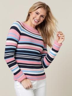 Struktur-Streifen-Pullover