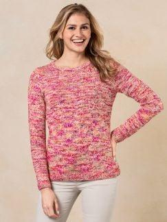 Sommer Alpaka Pullover Pink gemustert Detail 1