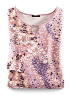 Blouson Shirt Millefleur Altrosa Detail 2