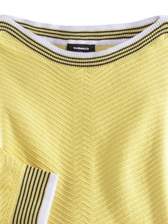 Baumwoll-Strukturpullover Gelb Detail 4