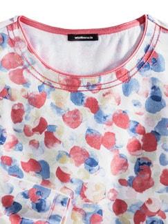 Shirt Aquarelltupfen Blau/Koralle Detail 4
