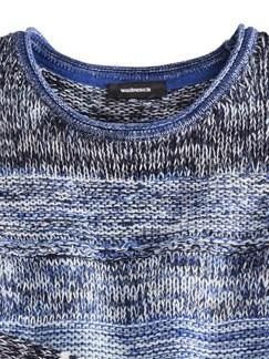 Pullover Mouline-Effekt Azur/Marine Detail 3