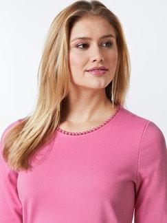 Sweatshirt Lochstickerei Pink Detail 4