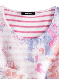 Leicht-Pullover Blumenringel Pink Multicolor Detail 4