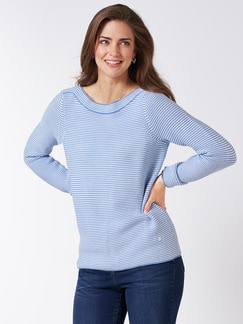 Pima Cotton Pullover Links/Links Skyblue/Weiß Detail 1