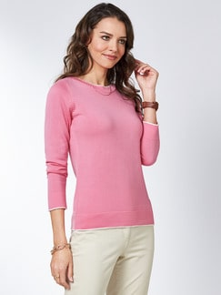 Merino Pullover extrafine Pink Detail 1