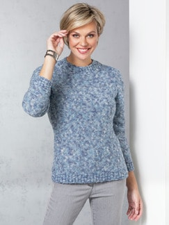 Soft-Boucle-Pullover Hellblau Detail 1