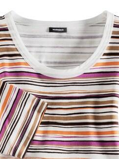 Streifenshirt Afrika Azalee/Orange Detail 3