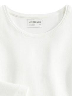 Viskose Shirt Langarm Offwhite Detail 3