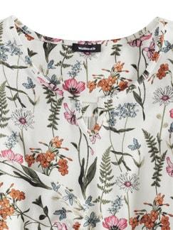 Blouson-Shirt Blumenwiese Weiß/Orange/Pink Detail 4
