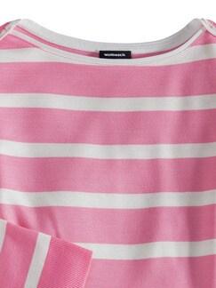 Streifen Sweatshirt 2in1 Pink/Weiß Detail 3