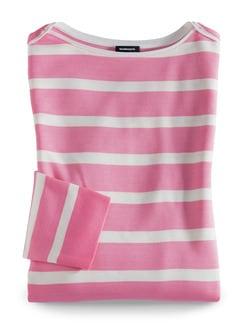 Streifen Sweatshirt 2in1 Pink/Weiß Detail 2