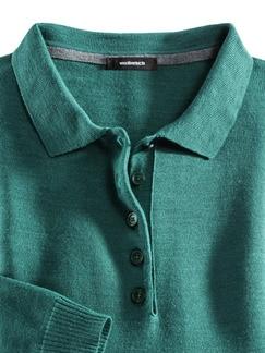 Merino-Mix Polo-Pullover Jadegrün Detail 4