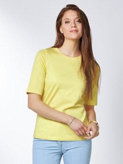 Pima Cotton Shirt Gelb Detail 1