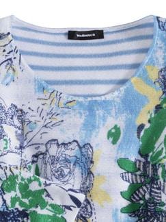 Leicht-Pullover Blumenringel Marine Multicolor Detail 3