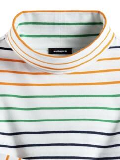 Baumwoll-Rolli Deauville Multicolor Weiß/Mandarine Detail 3