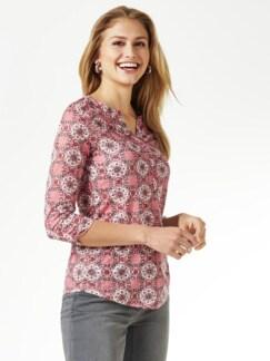 Ausbrenner-Shirt Kachelmuster Altrosa Detail 1