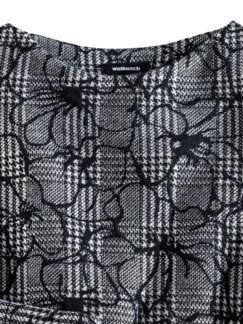 Karo Blüten Sweaty Schwarz Detail 3