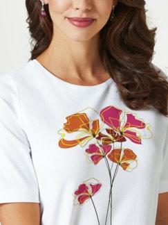 T-Shirt Frühlingsblume Mandarine/Fuchsia Detail 4