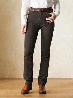 Yoga-Jeans Supersoft Dark brown Detail 1