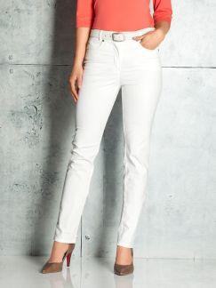 Powerstretch-Jeans T400 Weiß Detail 1