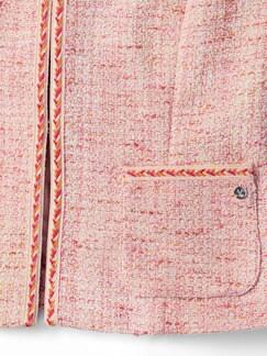 Pastell-Boucleblazer Rose Detail 4