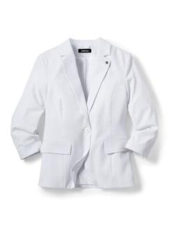 Sommerblazer Wash & Wear Weiß Detail 2