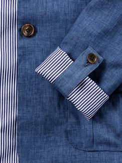 Leinenblazer Leicht & Luftig Jeansblau Detail 4