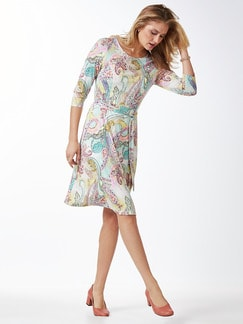 Jerseykleid Sommerpaisley Rosa Multicolou Detail 1