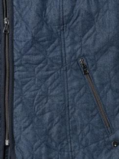 Demin-Leichtsteppweste Blue Stoned Detail 4