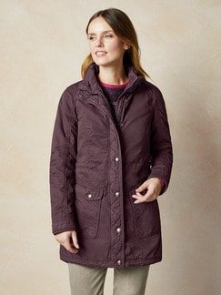 Thermoparka Wintercotton Dark Purple Detail 1
