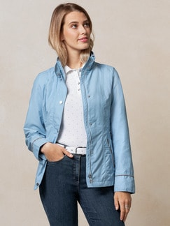 Baumwolljacke Simple Life Blau Detail 1