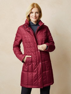 Klepper Stepp-Langjacke Aquastop Cranberry Detail 1