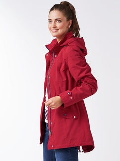Aquastop Sailingjacke rot Detail 1