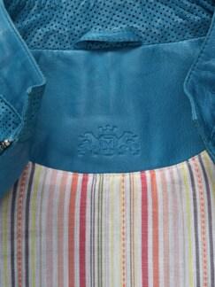 Lammnappa-Jacke 1000 Poren Palazzoblau Detail 3