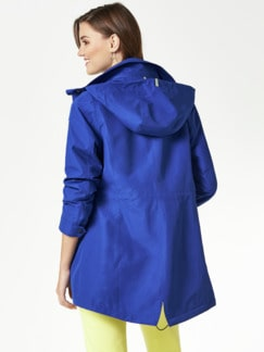 Aquastop Jacke Royalblau Detail 4