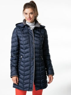 Steppjacke Thermore Navy Detail 1