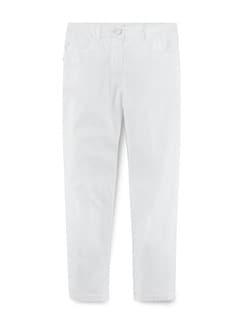 Baumwoll-Capri Supersoft Weiß Detail 2