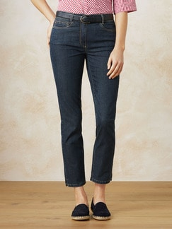 7/8 Yoga Jeans Supersoft Blue Stoned Detail 1