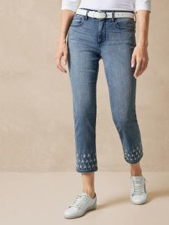 NYDJ Ankle Jeans Stickerei Palm Point Detail 1