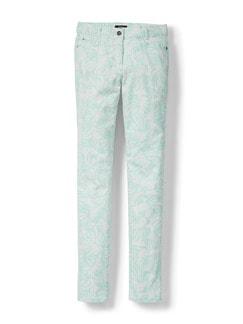 Powerstretch-Jeans Palmenprint Mint Detail 2