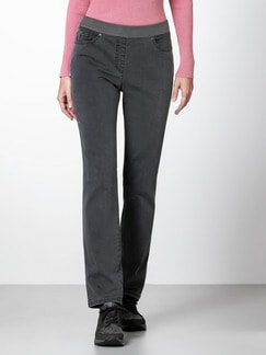 Raphaela by Brax Thermo Jeans Darkgrey Detail 1