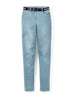 Gürtel- Jeans Blue Bleached Detail 2