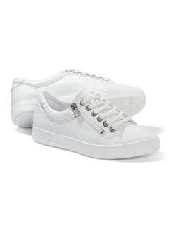 Reißverschluss City Sneaker Weiß Detail 1